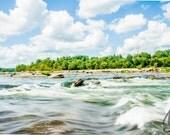 James River Rushing Water View Photo Richmond Va , RVA Landscape Photo Art, Framed Photography Option, Home Decor Gift