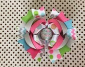SALE! Ready To Ship Hairbow! Christmas Hairbow, Baby It's Cold Outside Hairbow, Winter Hairbow, Christmas Boutique Hairbow