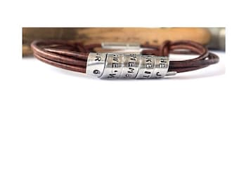 Leather Bracelets, Personalized Leather Bracelets, Magnetic Bracelets, Leather Bracelet for Women, Bracelets for Men, Wrap Bracelets