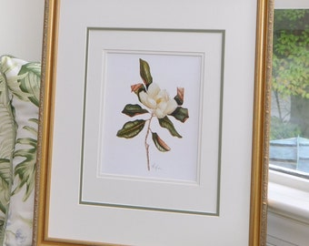 Magnolia Print by LindaC.Miller from Colonial Williamsburg 8x10 Inch