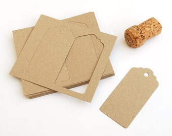 Gift Tags, Recycled card swing or hang tags in Kraft Manilla, sets of 10, 30, 60 or 120