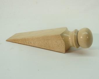 Maple Doorstop wood wedge handmade DS7580