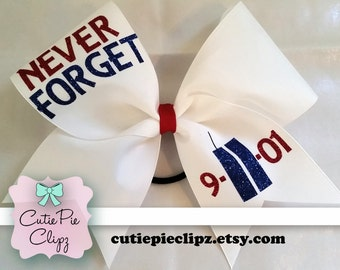 9/11 Grosgrain Remembrance Bow