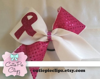 Hot Pink Breast Cancer Bow