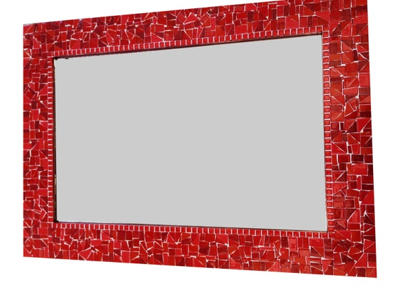 Red Wall Mirror red wall mirror mosaic mirror colorful decorative mirror