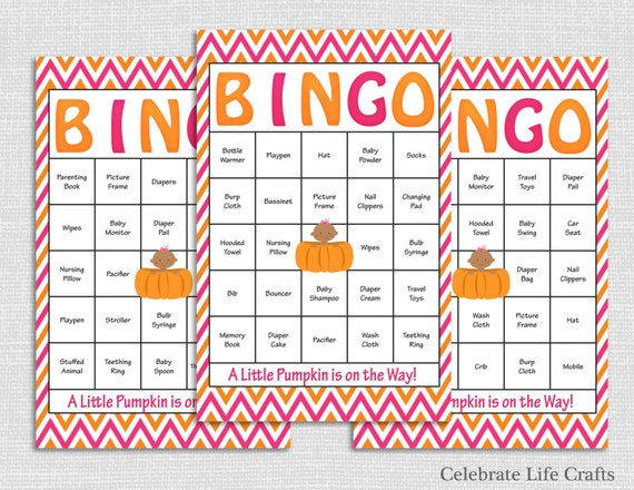 100 pumpkin baby shower bingo cards printable baby shower games il570xn pin it solutioingenieria Choice Image