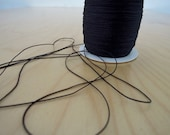 Nylon Cord Jade String - BLACK - 0.5mm x 5 meters