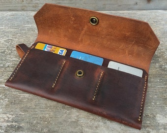 Womens leather wallet / Brown Leather Wallet / The Ingalls