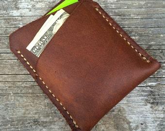 Minimalist wallet, Mens wallet, Front pocket wallet, Minimal wallet, Leather wallet, Brown leather wallet, Handmade wallet, The Lincoln