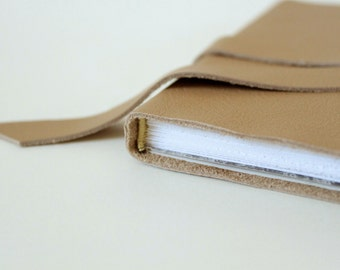 Square Leather Wrap Notebook Blank Book Perfect for Instagram Pictures