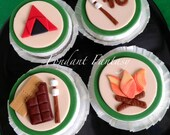 Camping Themed Cupcake Toppers