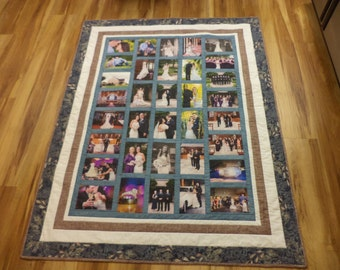 Custom Photo/Memory Quilt Fiber Art Textile Art Quilted Quiltagami Wall Hanging
