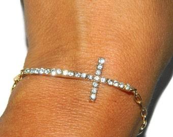 Cross Bracelet, Sideways Cross