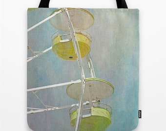 Carnival 1 Photo Tote Bag, Ferris Wheel, Library Bag, Photo Tote, Tote Bag, Reusable Tote, Photography