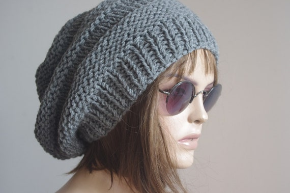 658540883ca Womens Hat Slouchy Hat Slouchy Women Hat Slouch Beanie Cable Women Hat  Oversized Hat Cable Hat Chunky Knit Hat Beanie