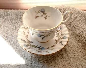 Royal Albert Brigadoon Tea Cup And Saucer, Mint Condition