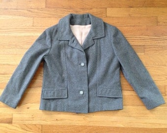 Adorable Vintage Heather Gray Jacket / Small / Medium