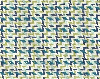 Teal and Navy Blue Upholstery Fabric -  Dark Teal Plaid Pillow Cover - Lime Green Textured Fabric for Furniture - Blue Tweed Upholstery