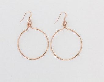 14K Gold Filled, Silver or Rose Gold Hoop Earrings
