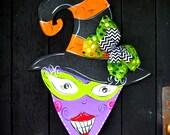 Halloween Wreath, NEXT DAY SHIPPING, Witch Wreath, Halloween Door Hanger, Witch Decoration, Halloween witch sign, Halloween Decor