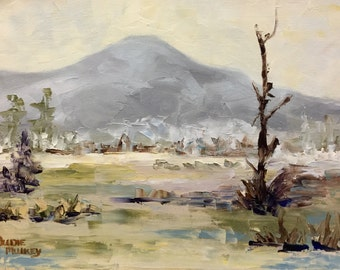 EARLY COLORADO SPRING Original Oil Painting by Artist Judie Mulkey