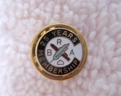 Vintage 10k gold Brotherhood of RR Clerks 25 year membership pin