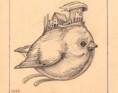 Original Drawing - Avian 4