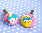 kawaii hair clips Girl Hair Accessories Woodland bobby pin Deer Bird Animal hairpiece
