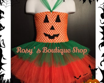 Halloween Pumpkin Tutu Dress, Orange tutu dress, Halloween tutu