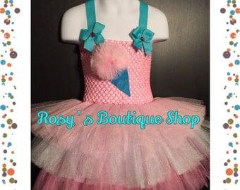 Size 2-4T Ready to ship, Cotton candy tutu dress, birthday tutu dress, halloween costume