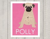 Pug Art Print - Custom Dog Art