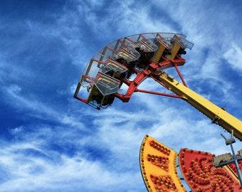Carnival Photography - Fine Art Print - Vibrant Carnival Ride CNE Fun Fair Wall Art