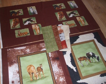 Horse Fabric Quilt Kit