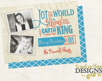 Scripture Art Digital Christmas Card Download...Joy To The World