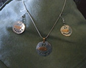 Snowman Necklace and Earrings
