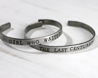 The Girl Who Waited, The Last Centurion, Set of Two Bracelets, Amy and Rory, Whovian Couples Bracelets, Fandom