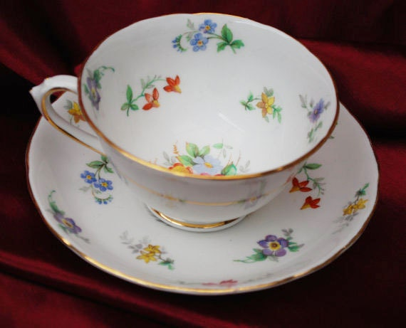 English Tuscan Bouquet Tea cup and Saucer