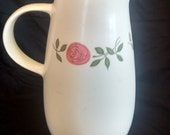 Vernon Ware Rose A Day Pitcher