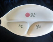 Vernon Ware Rose Divided Relish Plate