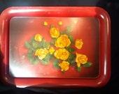 Rose Metal Tray