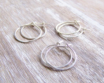 Sterling Silver Hoop Earrings Set, Hoop Earring, Sterling Silver Hoops. Small Hoops, Three Pair Set, Five Pair Set