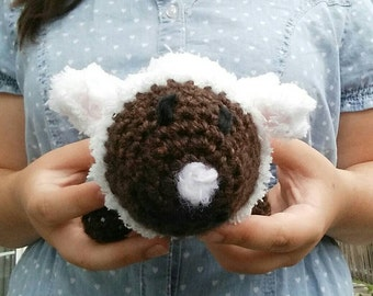 Fuzzy little crochet lamb