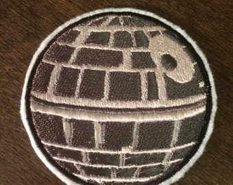 The Death Star -- Star Wars Embroidered Iron-on Patch
