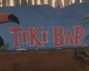Tiki Bar. 8oz Soy Candle Tin with Wood Wick