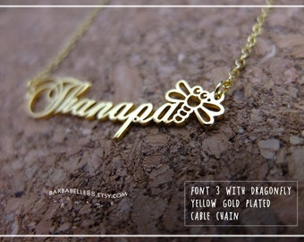 Name Necklace-Custom Name Necklace-Personalized Name Necklace-Custom Name Gift-Your Name Necklace-Bridesmaids Jewelry-Children Names #NF03D