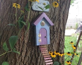 Fairy Garden, Fairy Door, Reclaimed wood, Distressed wood, Garden Decor, Girls Room Decor, Gifts for Her, Birthday, housewarming