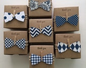 25 bow tie favor boxes - Little Man -  Navy bow tie favors - 3x3x2 inch Little man baby shower  Ready to ship