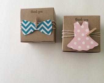 Tutus and ties favor boxes - tutus and ties birthday party - bow tie favors - tutu favors