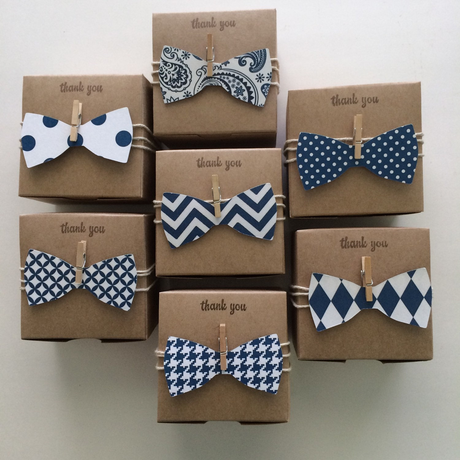30 bow tie favor boxes little man navy bow tie by thelondonloft. Black Bedroom Furniture Sets. Home Design Ideas