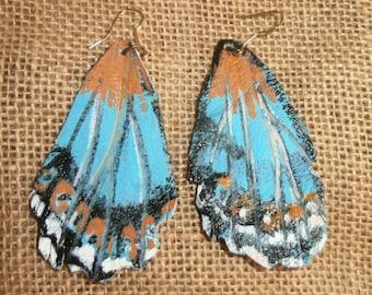 Leather Butterfly Earring